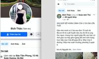 Đối tượng lấy tên FB Bích Thảo không phải là người của báo Tiền Phong nhưng thường xuyên lên FB quyên góp từ thiện. Ảnh chụp lại màn hình.