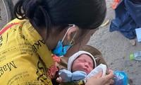 Em bé 9 ngày tuổi vượt ngàn cây số trên xe máy cùng cha mẹ về quê tránh dịch