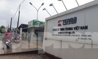Công nhân Cty TNHH Tenma Việt Nam tại Khu công nghiệp Quế Võ, Bắc Ninh vào làm việc đầu giờ sáng ngày 26/5
