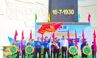 Đoàn viên thanh niên tỉnh Bắc Giang trồng cây xanh tại huyện Yên Dũng (Bắc Giang)