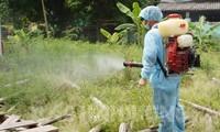Cơ quan chức năng tỉnh Bắc Ninh phun hóa chất phòng chống dịch bệnh