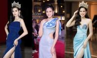 Cứ nghĩ Hoa hậu Đỗ Thị Hà chỉ yêu gam màu nóng nhưng khi lên đồ sắc lạnh cũng rất bắt mắt