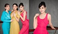 Hoa hậu Đỗ Thị Hà đổi kiểu váy mới, không khoe chân mà nhìn vẫn cảm giác chân dài miên man