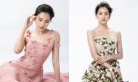 """Hoa hậu Tiểu Vy mặc mẫu váy đính kết lạ mắt, khoe nhan sắc rạng rỡ như """"nữ thần rừng"""""""