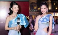 """Mặc váy giống Hoa hậu Đỗ Thị Hà, """"nàng Kiều"""" Mỹ Duyên vẫn bị """"nuốt dáng"""" dù cao mét bảy"""