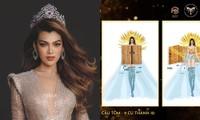 """Ý tưởng quốc phục cực """"bá đạo"""" cho Hoa hậu Trân Đài, sốc nhất là thiết kế """"Cầu Tõm"""""""