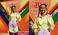 """Hoa hậu H'Hen Niê được khen """"đáng yêu như Natra thái tử"""" với tóc hai búi, diện đồ nổi bật"""