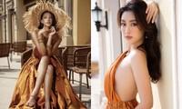 Cùng diện thiết kế cắt xẻ hiểm hóc, Hoa hậu Mỹ Linh tạo dáng táo bạo hơn đàn em Tiểu Vy