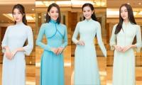 Hoa hậu Đỗ Thị Hà, Tiểu Vy cùng dàn hậu khoe sắc nền nã trong tà áo dài, nhận cương vị mới