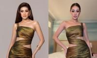 Hoa hậu Khánh Vân khoe mẫu váy chưa từng tiết lộ ở Miss Universe, khuôn mặt có gì sai sai?