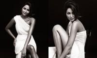 Hoa hậu H'Hen Niê được khen đẹp như nữ thần trong bộ ảnh với gam màu cơ bản đen và trắng