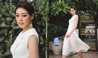 """Hoa hậu Khánh Vân """"bắt trend"""" catwalk tại gia: Netizen khen ảnh đẹp như chụp tạp chí"""