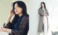 """""""Nữ thần"""" Song Hye Kyo có bí quyết gì mà cứ chụp ảnh thời trang là chân dài miên man?"""