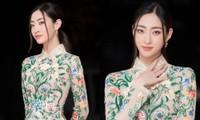 """Lâu rồi mới thấy Hoa hậu Lương Thùy Linh mặc áo dài, netizen cảm thán """"đẹp chuẩn mỹ nhân"""""""