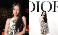 Jisoo BLACKPINK xinh đẹp trên hàng ghế đầu show Dior nhưng trang phục vẫn gây tranh cãi