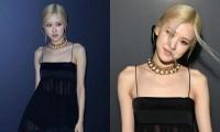 Rosé BLACKPINK mặc thiết kế được may lại từ 2 bộ váy khác nhau tới show của Saint Laurent?