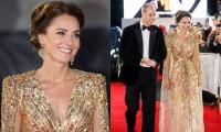 Công nương Kate Middleton mặc chiếc váy đẹp lộng lẫy trên thảm đỏ khiến netizen dậy sóng