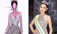 Váy dạ hội Bán kết Miss Grand International của Thùy Tiên được lấy cảm hứng từ dải ngân hà