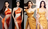 Ái Nhi tung ảnh lộng lẫy trước ngày lên đường, đụng váy Hoa hậu Tiểu Vy và Lương Thùy Linh