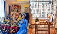 Lễ giỗ tổ sân khấu đặc biệt: Hoa hậu Khánh Vân, Jun Phạm và dàn sao Việt cúng tổ tại nhà