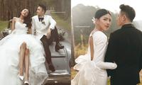 """Bộ ảnh cưới lãng mạn chụp ở Đà Lạt của Phan Mạnh Quỳnh: Nhan sắc cô dâu chiếm """"spolight"""""""