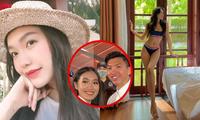 Bạn gái tin đồn của Đoàn Văn Hậu diện bikini khoe vòng eo 56, nam cầu thủ lập tức thả tim