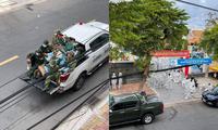 Hình ảnh xúc động mùa dịch: Các anh bộ đội chở lương thực giao tới tận nhà cho người dân