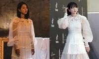 """Hai """"điên nữ"""" của điện ảnh Hàn Seo Ye Ji và Kim Da Mi """"đụng hàng"""" chiếc váy siêu bánh bèo"""