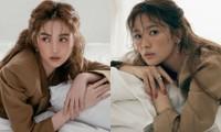 Ngọc Trinh mặc kín đáo vẫn xinh đẹp, visual không hề kém cạnh khi bắt chước Song Hye Kyo