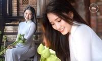 Phương Tuyết - thí sinh Hoa hậu Việt Nam khu vực miền Tây có đôi mắt 1 mí ấn tượng