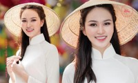"""Thí sinh Hoa Hậu Việt Nam sở hữu đôi chân dài """"siêu thực"""", được khen vì mặc áo dài quá đẹp"""