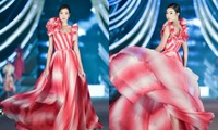 Hoa hậu Đỗ Mỹ Linh vừa là giám khảo vừa là vedette đêm Người đẹp Thời trang