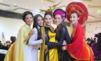 Nhan sắc 5 cựu Hoa hậu xinh đẹp tài năng của Hoa Hậu Việt Nam trong màn trình diễn áo dài