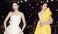 Á hậu Phương Anh - Ngọc Thảo khoe sắc vóc hoàn hảo trên thảm đỏ Tuần lễ Thời trang