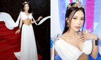 Sam đẹp lộng lẫy như công chúa Hy Lạp, hội ngộ Diệu Nhi trên thảm đỏ Tuần lễ thời trang