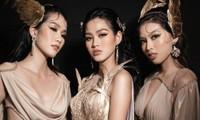 Hoa hậu Đỗ Thị Hà cùng 2 Á hậu khoe thần thái ngút ngàn trong ảnh hậu trường BST Nữ thần