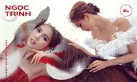 Bộ ảnh váy dạ hội mới của Ngọc Trinh đẹp long lanh nhưng địa điểm chụp lại gây tranh cãi