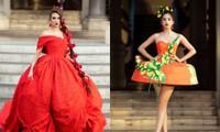 Hoa hậu Tiểu Vy mở màn với thiết kế váy lạ mắt, Võ Hoàng Yến mặc váy nặng 30kg kết show