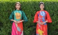 Á hậu Phương Anh, Ngọc Thảo khoe sắc vóc rạng rỡ trong BST áo dài đón Tết Tân Sửu