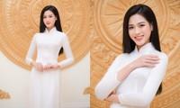 Hoa hậu Đỗ Thị Hà xinh đẹp trong tà áo dài trắng, chính thức đảm nhận cương vị mới đầy ý nghĩa