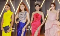 """Thảm đỏ WeChoice: Hoa hậu Đỗ Thị Hà cùng dàn hậu """"khủng"""" nhất V-Biz rủ nhau khoe vai trần"""