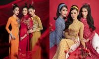 Ngắm Top 3 Hoa Hậu Việt Nam 2020 đẹp sắc sảo, ấn tượng trong những tà áo dài đón Tết