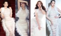 Bốn mỹ nhân cùng mặc mẫu váy xuyên thấu, Ngọc Trinh thậm chí không táo bạo bằng Kiều Loan