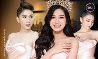 Cùng một thiết kế, Hoa hậu Đỗ Thị Hà - Á hậu Thùy Dung - Ngọc Trinh, ai mặc đẹp hơn?