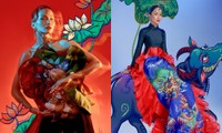 """Đưa tranh Đông Hồ vào bộ ảnh thời trang, Hoa hậu H'Hen Niê """"cưỡi trâu"""" mừng Xuân Tân Sửu"""