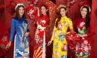 Ngắm dàn người đẹp Hoa hậu Hoàn vũ khoe sắc rạng ngời trong bộ ảnh Tết Tân Sửu