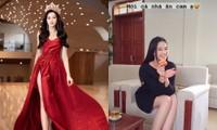 """Hoa hậu Đỗ Thị Hà """"mời mọi người ăn cam"""", nhưng ai cũng chú ý đến đôi chân 1m11 trứ danh của nàng hậu"""