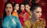Học ngay mỹ nhân Việt cách diện trang phục Tết vừa thời trang mà không lo bị nóng