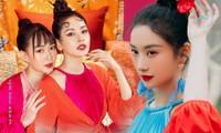 """Mỹ nhân showbiz Việt """"mê mệt"""" áo tứ thân cách điệu, thi nhau làm tóc kiểu mỹ nữ cổ trang"""