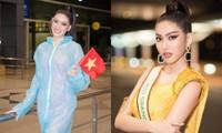 Á hậu Ngọc Thảo mang gần 150kg hành lý, mặc đồ bảo hộ lên đường dự thi Miss Grand International